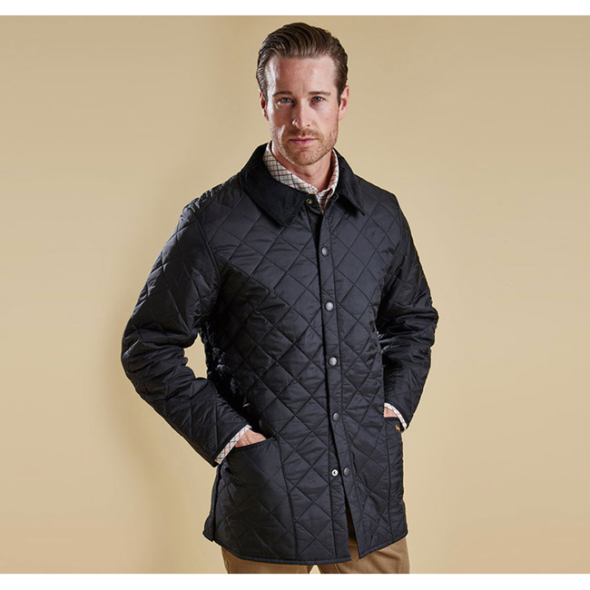 Cheap BARBOUR LIDDESDALE QUILTED JACKET Black Sale