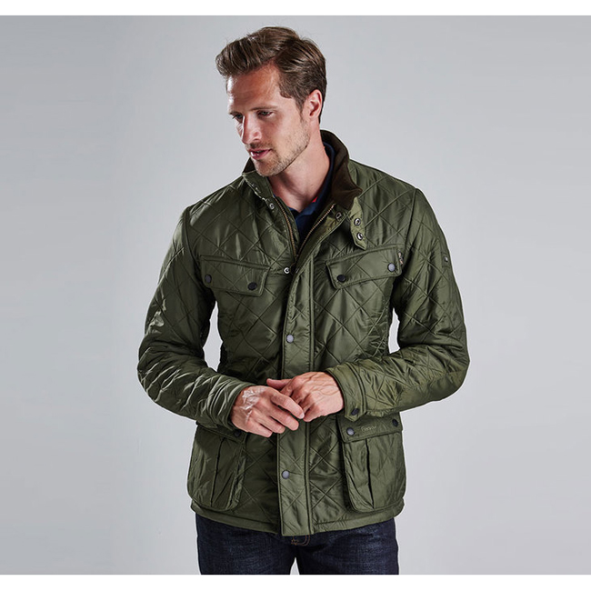 Barbour B.INTL ARIEL POLARQUILT JACKET Men Olive Outlet Store