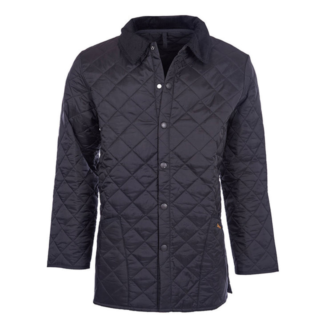 Cheap Barbour Men Black LIDDESDALE QUILTED JACKET Online
