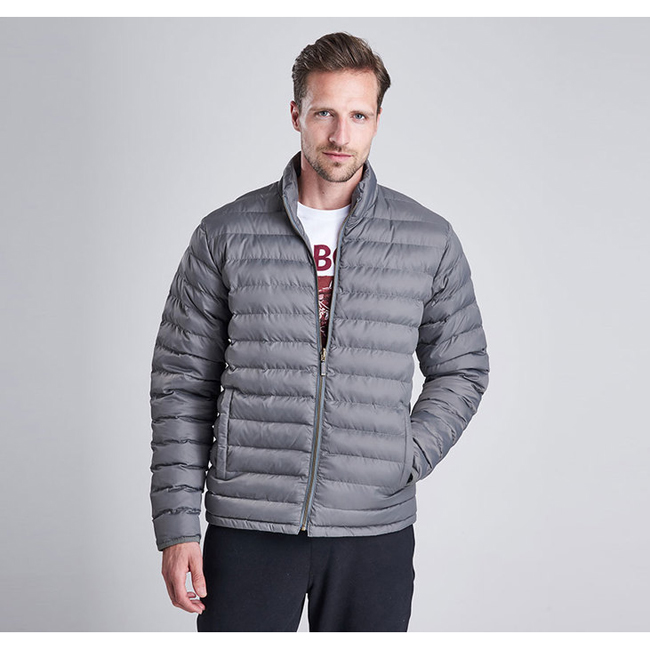 Cheap B.INTL IMPELLER QUILTED JACKET Grey  Sale