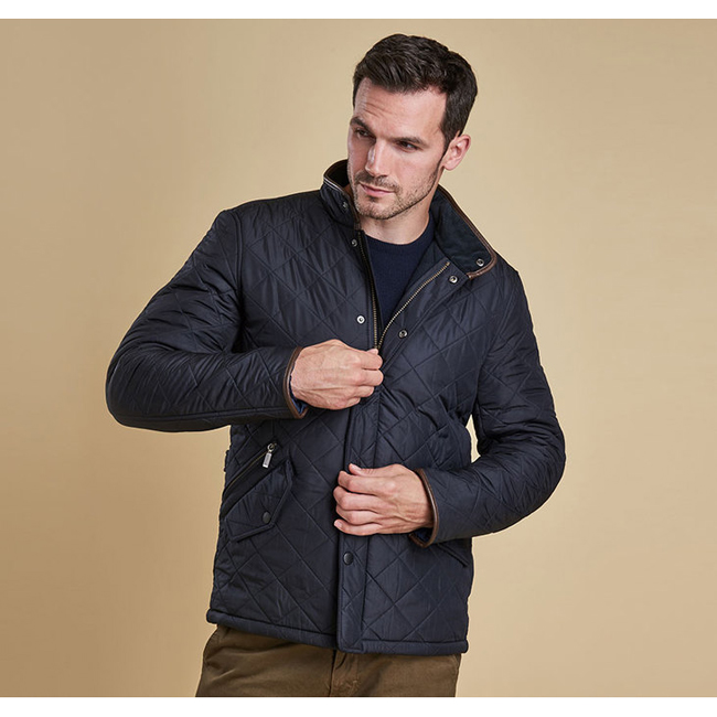 Cheap Barbour Men Navy POWELL QUILTED JACKET Online