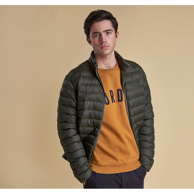 Cheap Barbour Men Sage TEMPLAND QUILTED JACKET Online