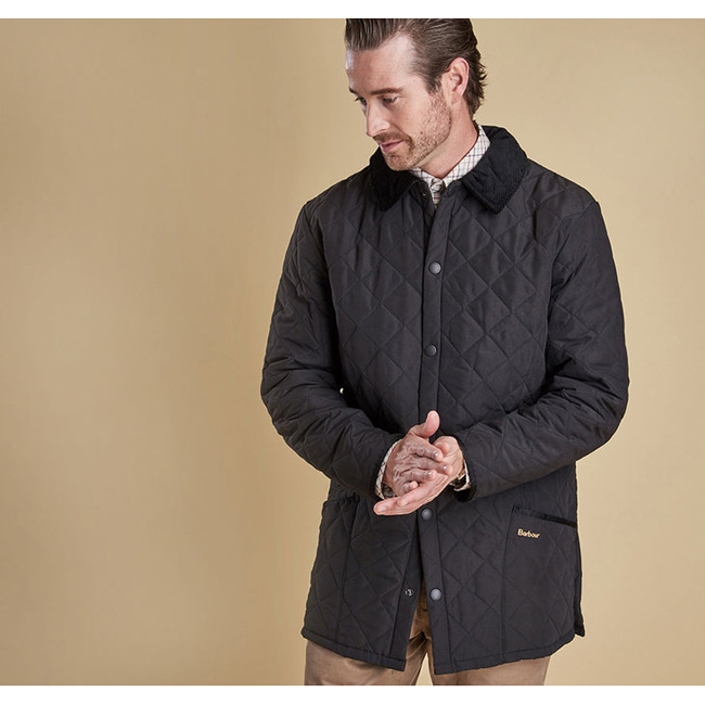 Cheap BARBOUR ESKDALE QUILTED JACKET Black Sale
