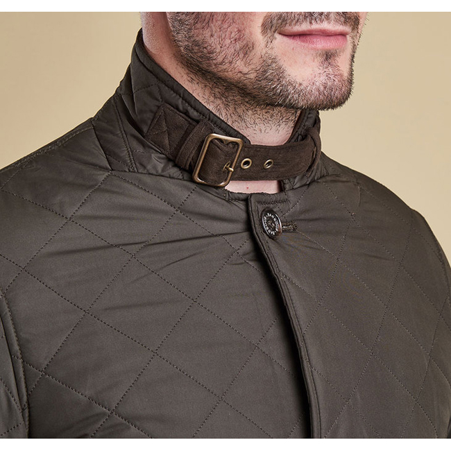 Cheap BARBOUR LUTZ QUILTED JACKET Olive Sale