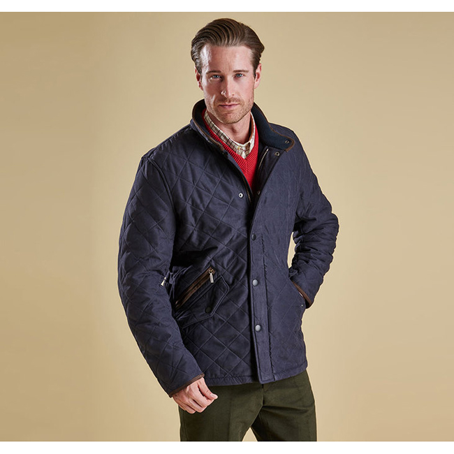 Cheap Barbour Men Navy BOWDEN QUILTED JACKET Online