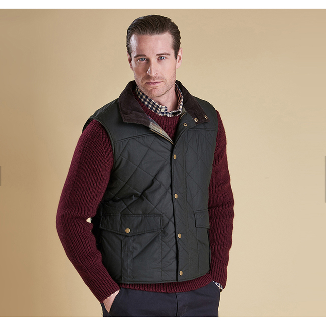 Cheap Barbour Men Olive BOXLEY QUILTED GILET Online