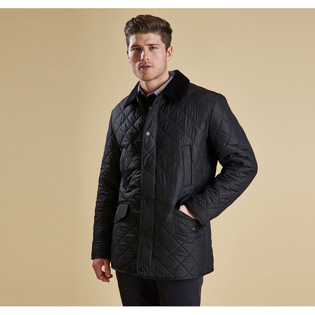 Cheap Barbour Men Black BARDON QUILTED JACKET Online
