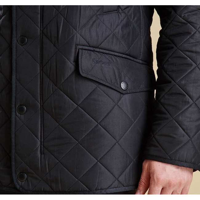 Cheap Barbour Men Navy BARDON QUILTED JACKET Online