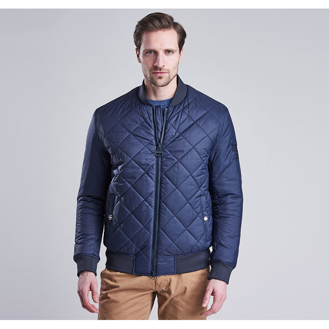 Barbour B.INTL STEVE MCQUEEN QUILTED JACKET Men Navy Outlet Store