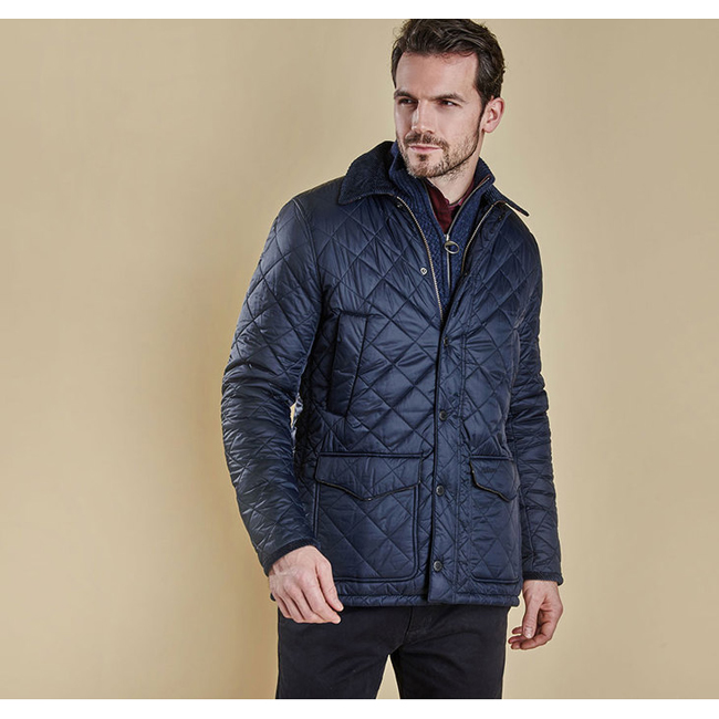 Cheap BARBOUR CANTERBURY QUILTED JACKET Navy Sale