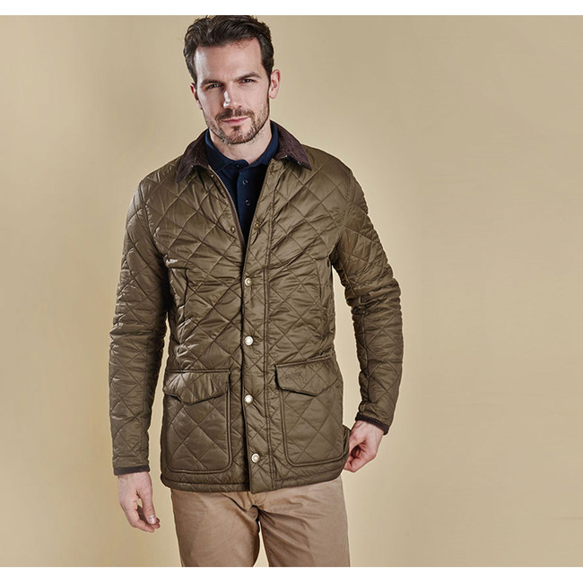 Barbour CANTERBURY QUILTED JACKET Men Olive Outlet Store