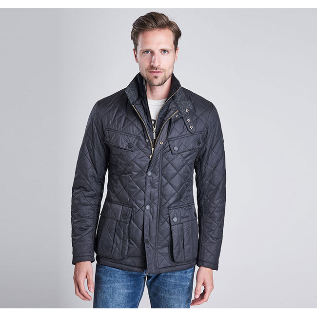 Cheap Barbour Men Black B.INTL WINDSHIELD TAILORED FIT QUILTED JACKET  Online