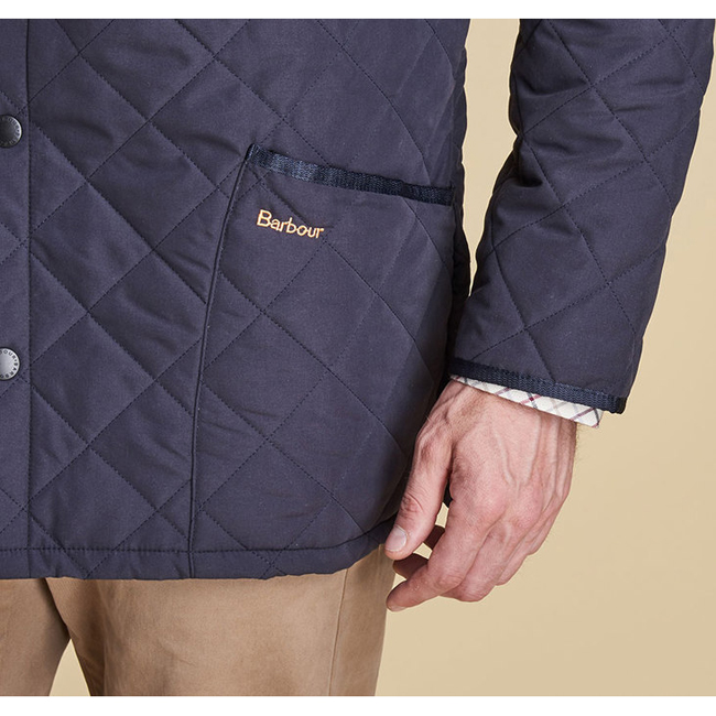 Cheap BARBOUR ESKDALE QUILTED JACKET Navy Sale