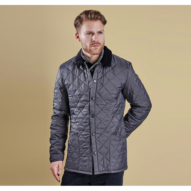 Cheap Barbour Men Charcoal HERITAGE LIDDESDALE QUILTED JACKET Online