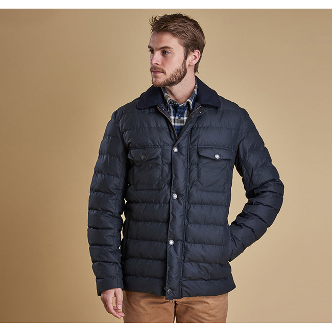 Cheap Barbour Men Navy BENTHOS QUILTED JACKET Online