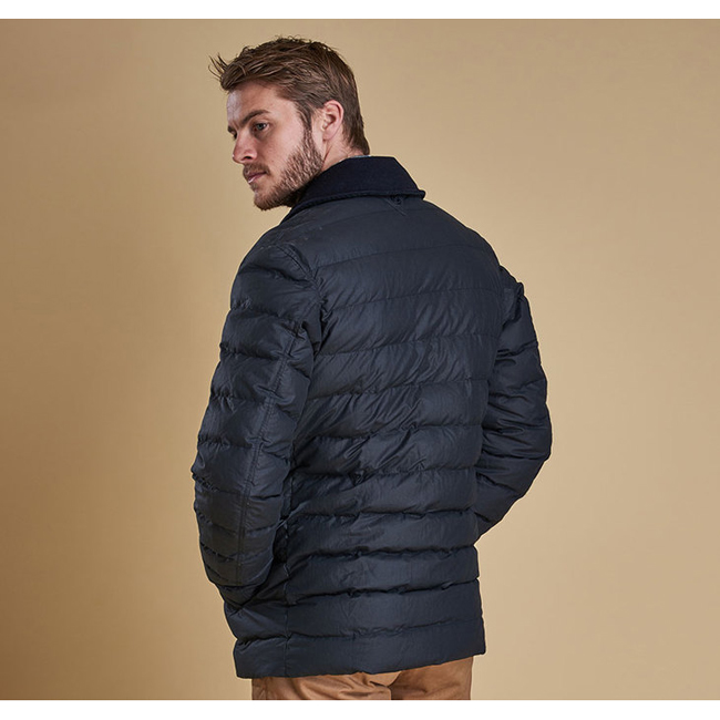 Barbour BENTHOS QUILTED JACKET Men Navy Outlet Store