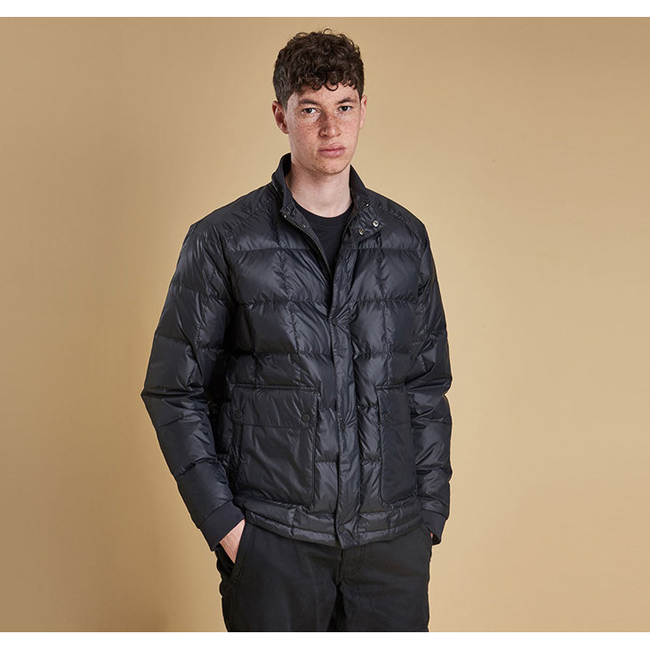 Cheap Barbour Men Black SIX BELL QUILTED JACKET Online