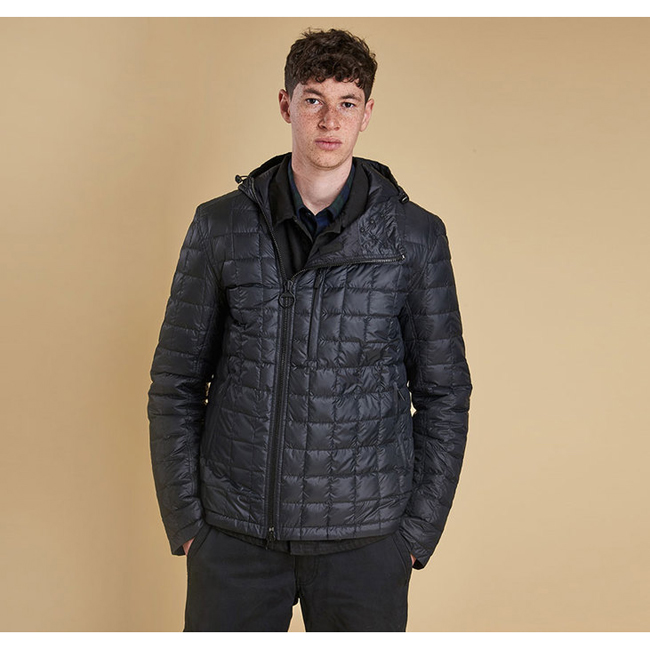 Cheap Barbour Men Black FIVE BELL QUILTED JACKET Online