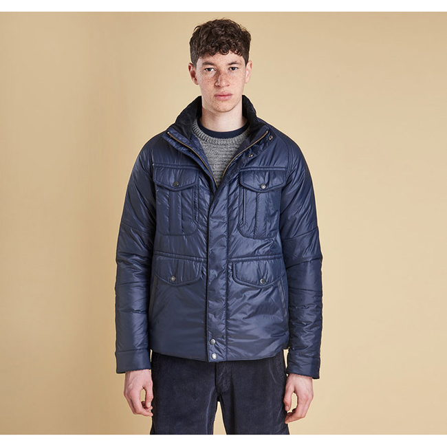 Barbour VELA QUILTED JACKET Men Navy Outlet Store