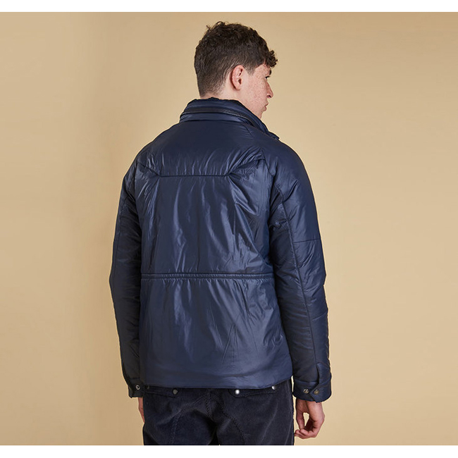 Cheap Barbour Men Navy VELA QUILTED JACKET Online