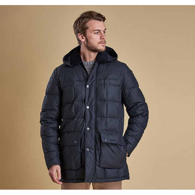Cheap Barbour Men Navy DUNNAGE QUILTED JACKET Online