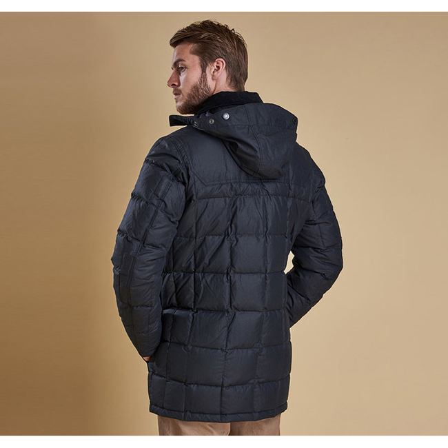 Cheap BARBOUR DUNNAGE QUILTED JACKET Navy Sale