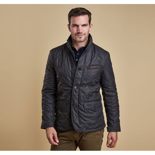 Cheap BARBOUR FILEY QUILTED JACKET Dark Charcoal Sale