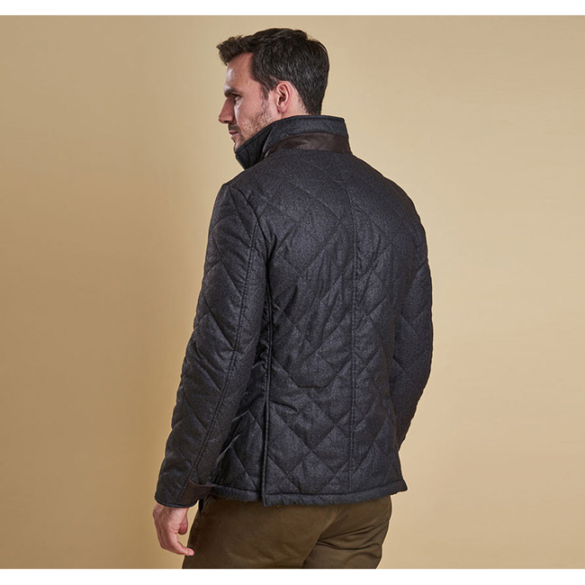 Cheap Barbour Men Dark Charcoal FILEY QUILTED JACKET Online