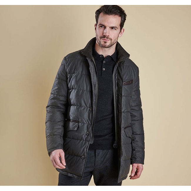 Cheap Barbour Men Olive OPERATIVE QUILTED JACKET Online