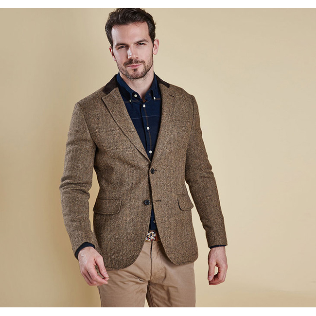 Barbour STANBURY TAILORED JACKET Men Sand Outlet Store