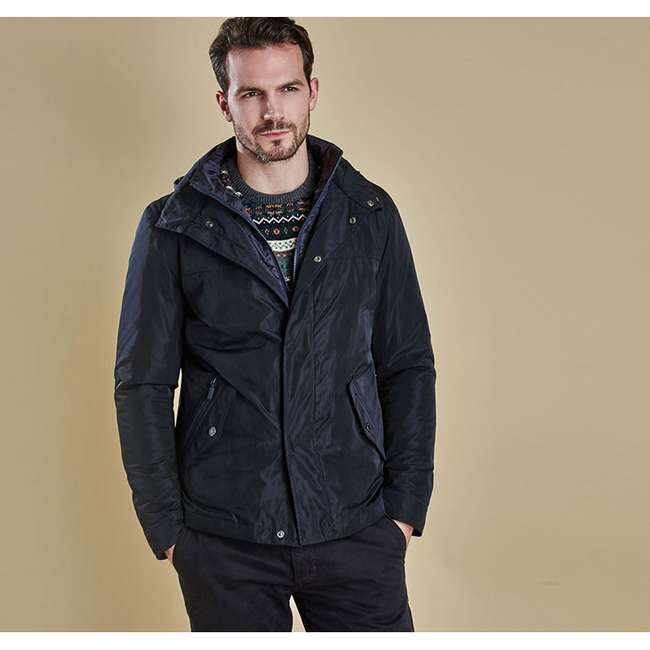 Cheap Barbour Men Navy TULLOCH WATERPROOF JACKET Online