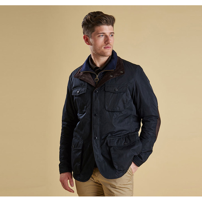 Cheap Barbour Men Navy PARWICH WATERPROOF JACKET Online
