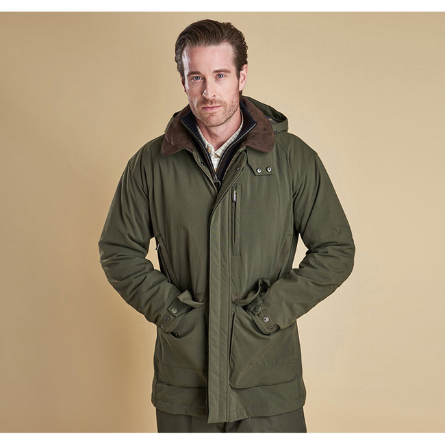 Barbour BRANSDALE WATERPROOF JACKET Men Forest Green Outlet Store