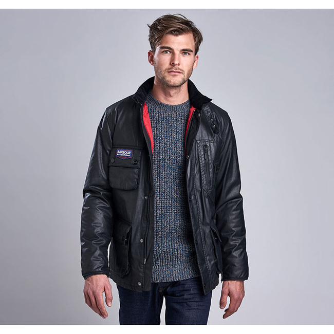 Barbour B.INTL TRIUMPH BONNEVILLE WATERPROOF JACKET Men Black Outlet Store