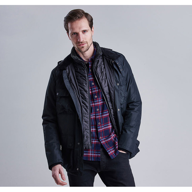 Barbour B.INTL CAPACITOR WATERPROOF JACKET Men Black  Outlet Store