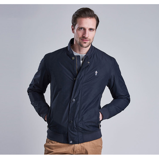 Barbour B.INTL STEVE MCQUEEN GREEN WATERPROOF JACKET Men Navy Outlet Store