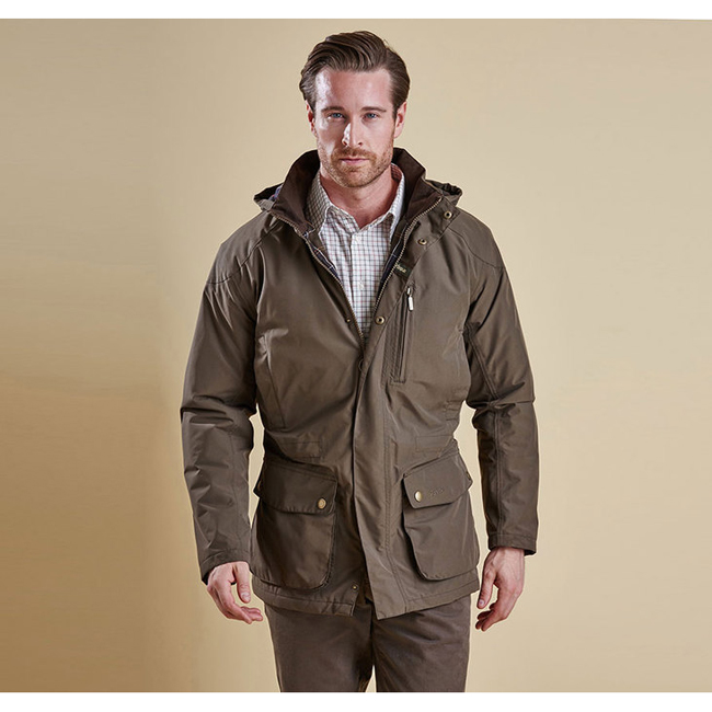 Cheap BARBOUR LINTON WATERPROOF JACKET Olive Sale