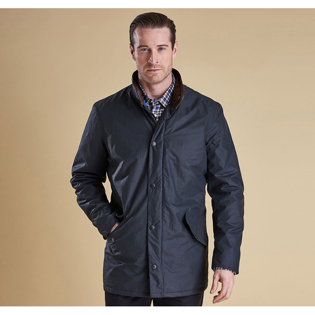 Cheap Barbour Men Navy HAPSFORD WATERPROOF JACKET Online