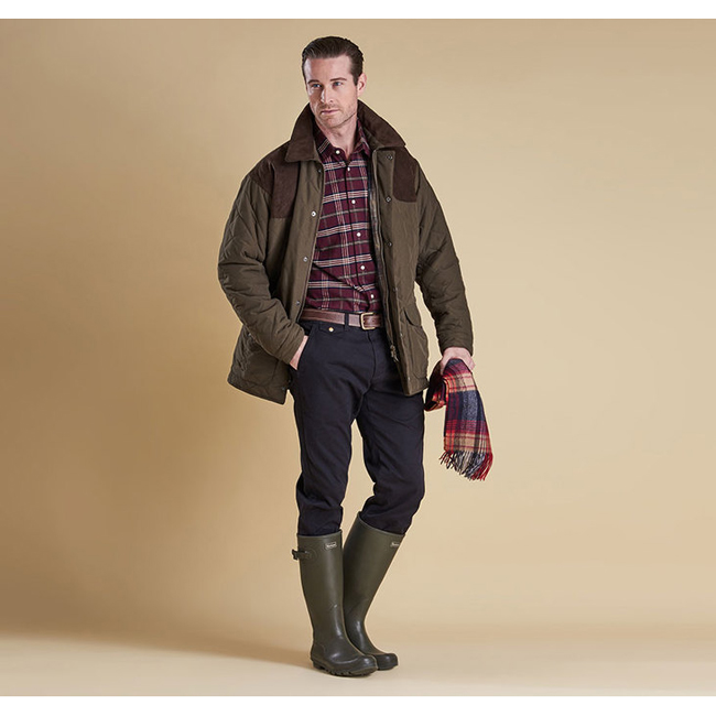 Cheap Barbour Men Dark Olive FULMAR WATERPROOF JACKET Online