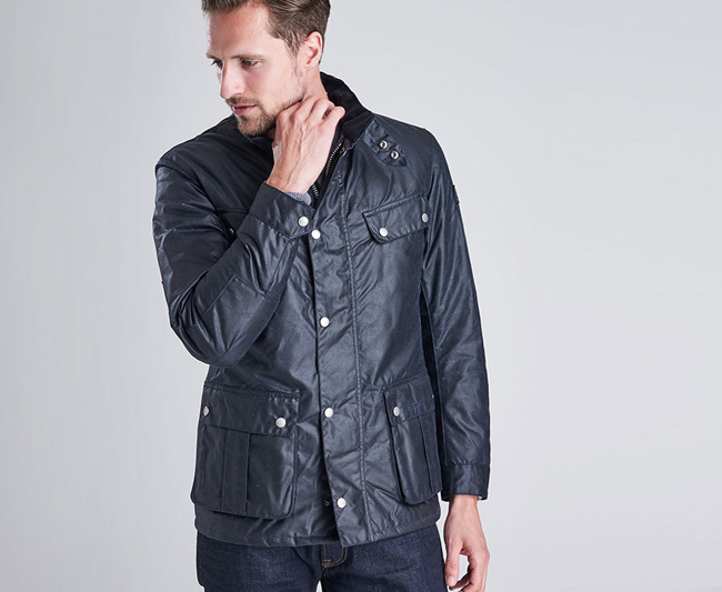 Barbour B.INTL DUKE WAX JACKET Men Navy Outlet Store