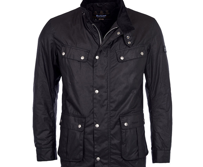 Cheap Barbour Men Black B.INTL DUKE WAX JACKET Online