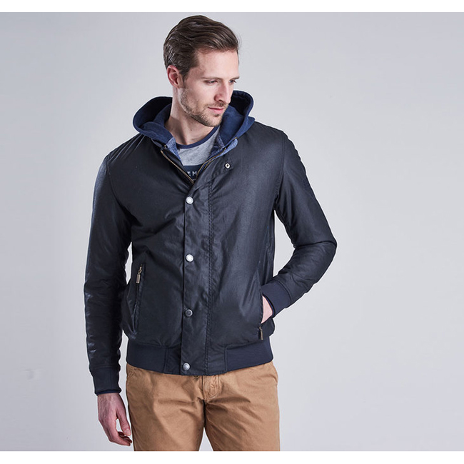 Barbour B.INTL STEVE MCQUEEN WAX BEECH JACKET Men Navy Outlet Store