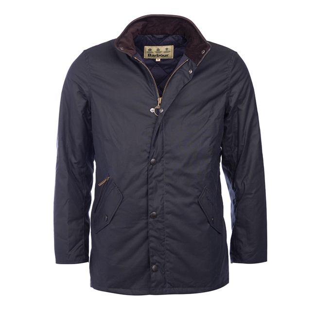 Cheap Barbour Men Navy PRESTBURY WAX JACKET Online