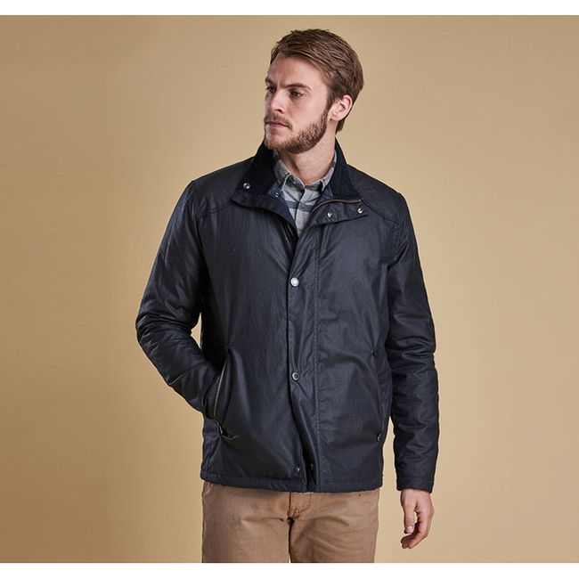 Cheap BARBOUR NAUTICAL BLOUSON WAX JACKET Navy Sale