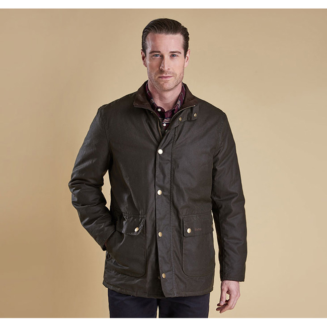 Barbour GUILLEMOT WAX JACKET Men Olive Outlet Store