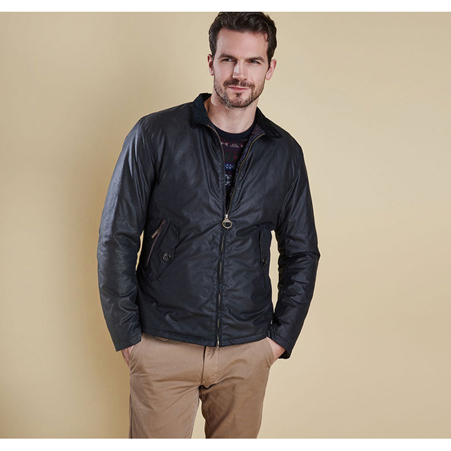 Barbour ELGIN WAX JACKET Men Navy Outlet Store