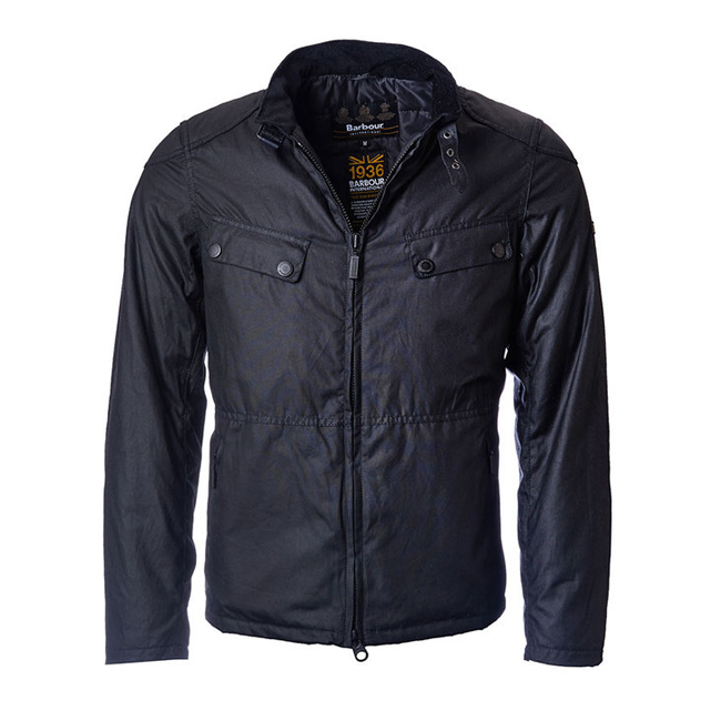 Cheap B.INTL VALVE WAX JACKET Black Sale