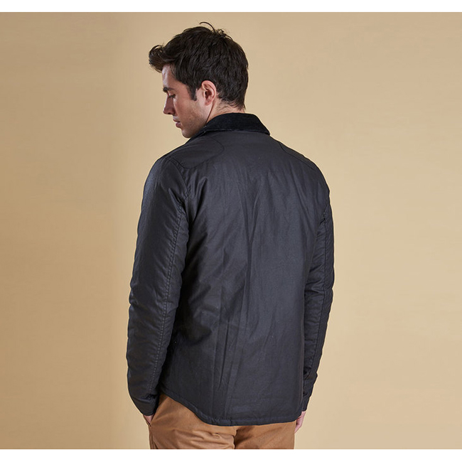 Cheap Barbour Men Navy REELIN WAX JACKET Online