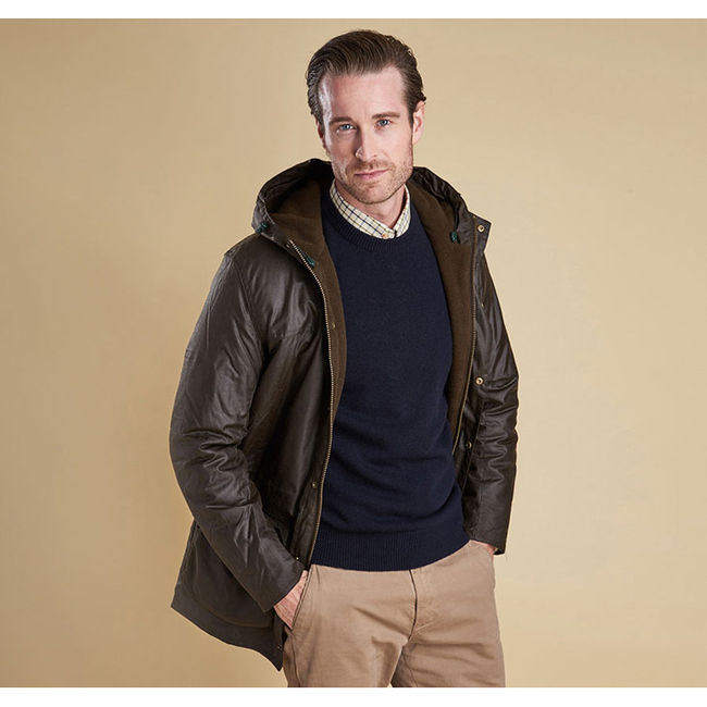 Barbour WINTER DURHAM WAX JACKET Men Olive Outlet Store