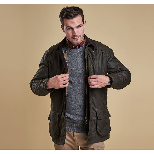 Cheap BARBOUR BRISTOL WAX JACKET Olive Sale